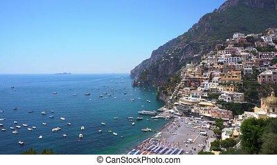 Positano resort, Italy - Positano town on the rock and...