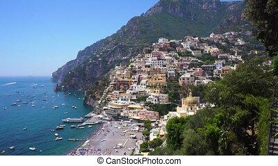 Positano resort, Italy - Positano town on the rock - famous...