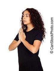 positie, vrouw,  yoga, jonge