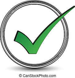 positief, checkmark, vector