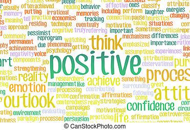 positief, of, denken, verblijf