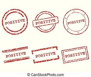 positief, postzegels