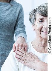 positieve houding, bejaarden, vrouwlijk