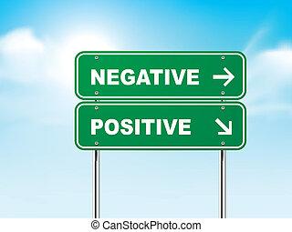 positif, 3d, négatif, panneaux signalisations