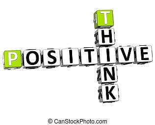 positif, 3d, penser, mots croisés