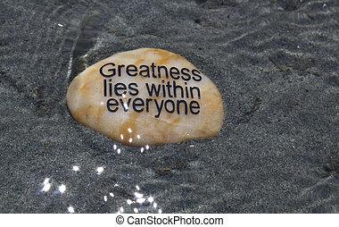 positif, affirmation, rocher