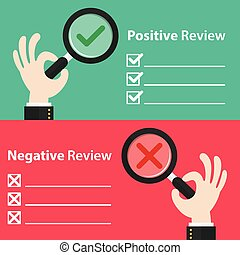 positif, revue, négatif