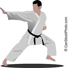 positio, karate., desportista