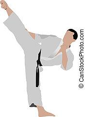 positio, karate., sportember