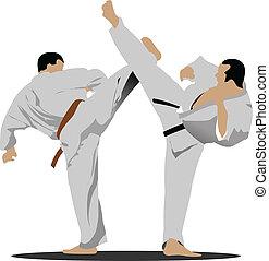 positio, karate., sportowiec