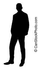 position homme, silhouette