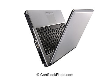 position, laptop, rgeöffnete, verschieden