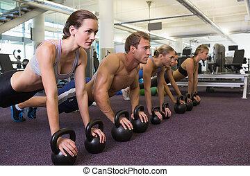 position, planke, witz, klasse, fitness
