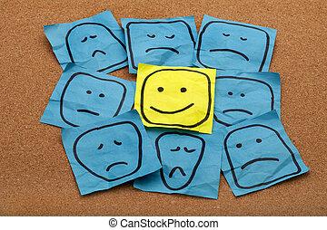 positiv holdning, begreb, planke, prop
