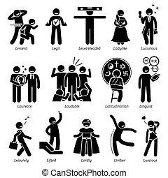 positiv, persönlichkeiten, haltung