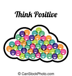 positiv, tänka, design.