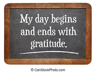 positive affirmation words - My day begins and ends with...