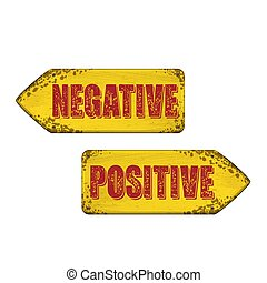 Positive and negative arrow boars