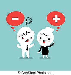 Positive and Negative thinking cartoon - Positive and...