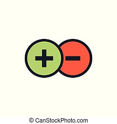 Positive and Negative, True AND False Images or Plus and Minus