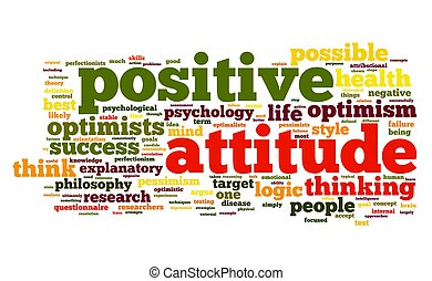 Positive attitude concept in tag cloud - Positive attitude...