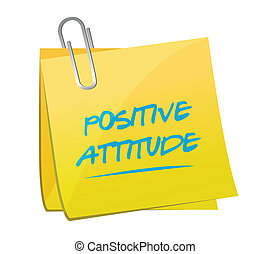 positive attitude memo illustration design