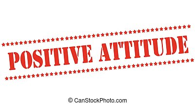 Rubber stamp with text positive attitude inside, vector illustration