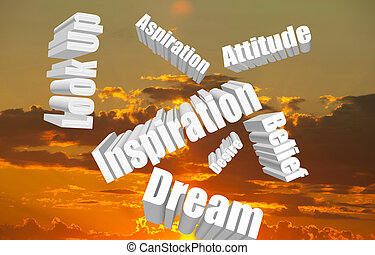 Positive Attitude Words in the Sky
