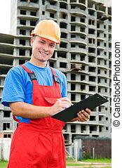 Positive builder worker