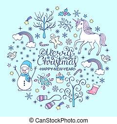 Positive Christmas card