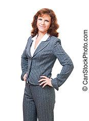 Positive confident bussiness woman