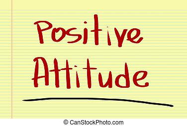 positive einstellung, begriff