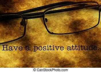 positive einstellung, haben
