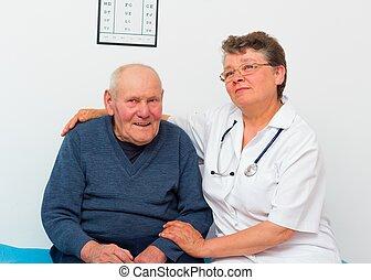 Positive Elderly Man