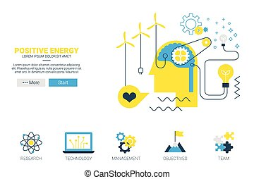 Positive energy concept