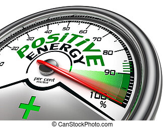 positive energy conceptual meter indicate hundred per cent,...