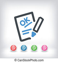 Positive evaluation icon - Illustration of positive...