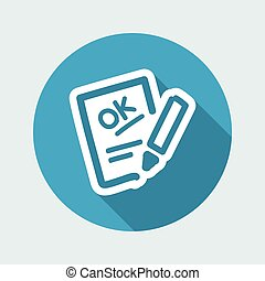 Positive evaluation icon