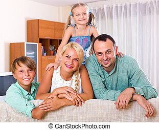 Positive family with two kids