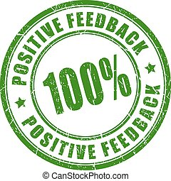 Positive feedback stamp
