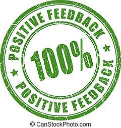 Positive feedback stamp - Positive feedback vector stamp