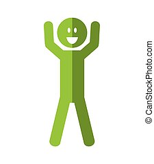 Positive feeling icon. Thinking  design. Vector graphic