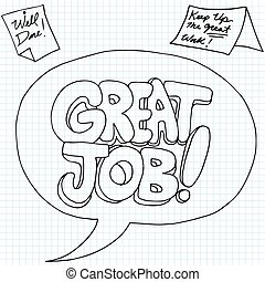 Positive Job Reinforcement Messages - An image of positive...
