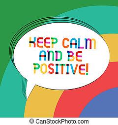 positive., kleurenfoto, ovaal, het glimlachen, geluk, positivity, schrijvende , aantekening, toespraak, kalm, tekst, bel, het tonen, lege, gekalmeerde, zijn, zakelijk, geschetste, verblijf, balloon., vast lichaam, bewaren, showcasing