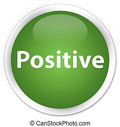 Positive premium soft green round button