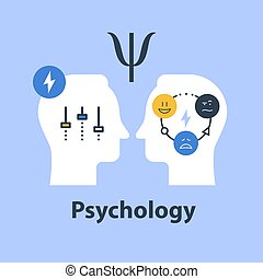 Positive psychology concept, psychological test, control feelings, mood swing