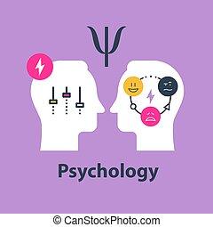 Positive psychology concept, psychological test, control feelings, mood swing