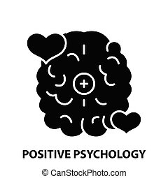 positive psychology icon, black vector sign with editable strokes, concept illustration