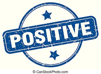 positive round grunge isolated stamp