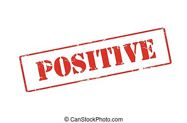 Rubber stamp with word positive inside, vector illustration